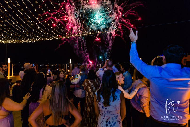 Fireworks Indian Wedding