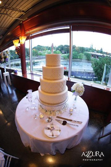 Wedding cake elegantly displayed at The Canal