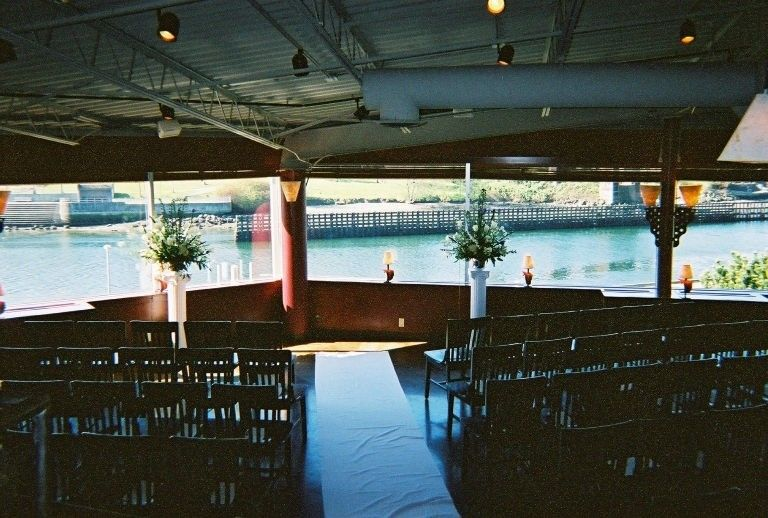 View from inside the Canal for an indoor wedding ceremony