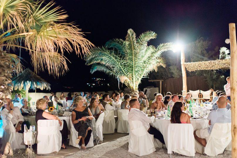 Dinner Reception at Medusa Beach Resort Suites, located at Naxos Island, Greece
