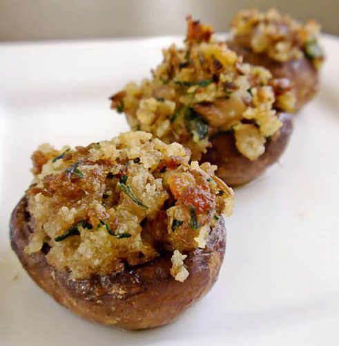 Stuffed mushrooms. You can't eat just one.