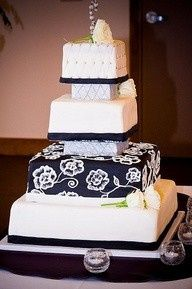 Tmx 1377968567090 Black And White Dexter wedding cake