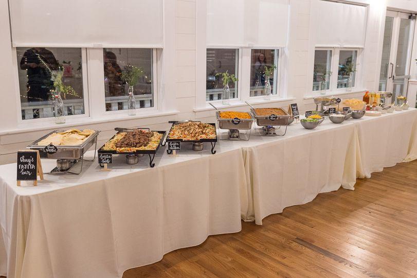 Wedding buffet set up