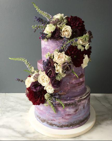 The violet cake