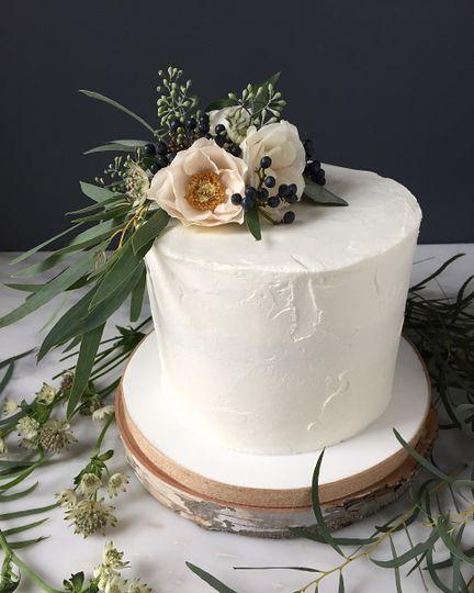 The smooth white cake
