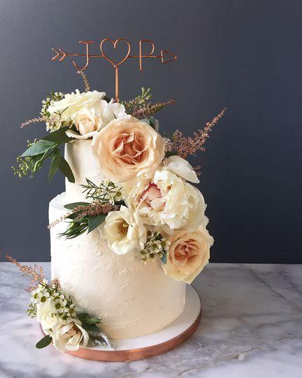 The white cake