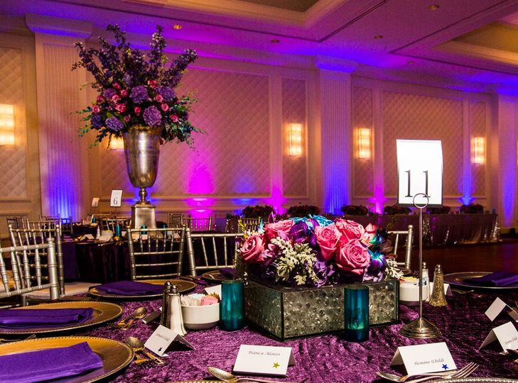 A reception layout