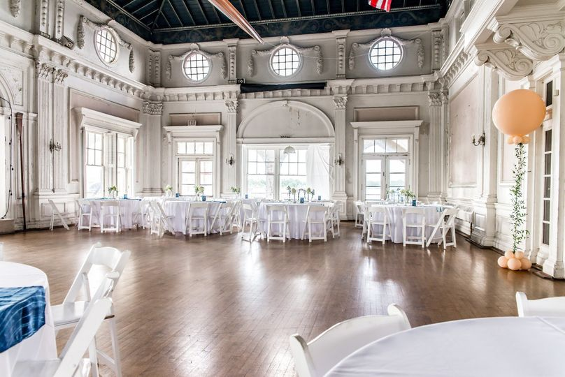 Our airily elegant historic ballroom, flooded with natural light & sweeping views of the Detroit...