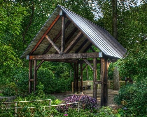 Pavilion in back gardens