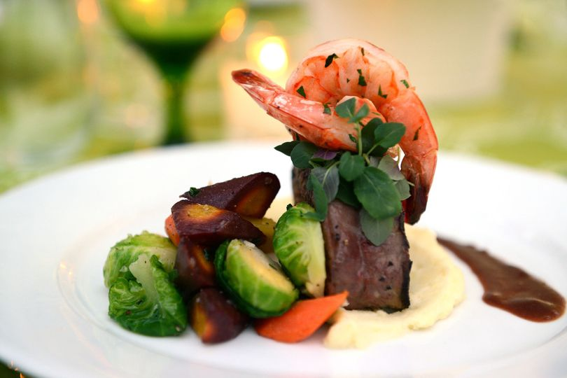 9ed8037490690eb5 1489505233444 plated entree prawn and filet duet