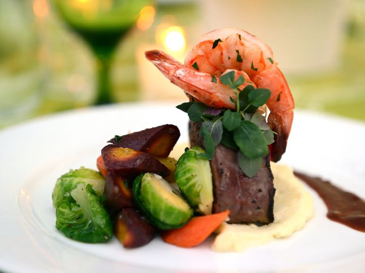 Tmx 1489505233444 Plated Entree   Prawn And Filet Duet Altamonte Springs wedding catering
