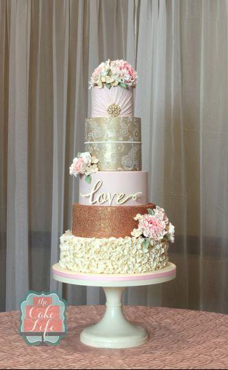 annie hauck wedding cake