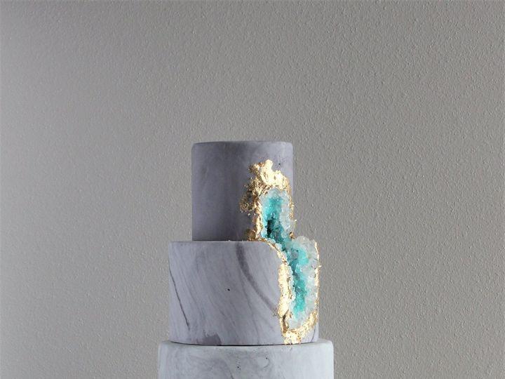 Tmx 1491182443211 Geode Rock Cake Dickinson wedding cake