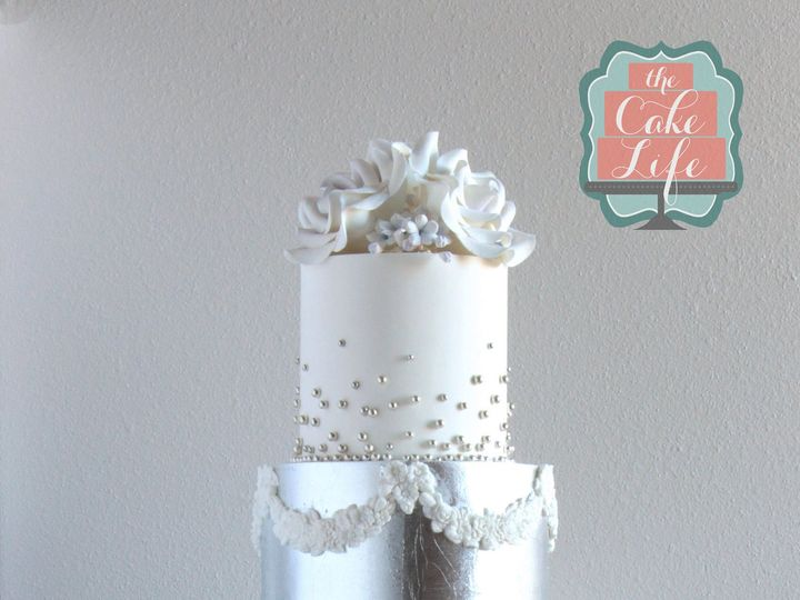 Tmx 1491183871029 Silver Blue Wedding Cake Dickinson wedding cake
