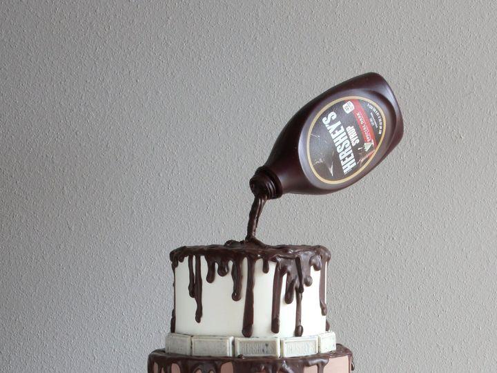 Tmx 1491183917009 Chocolate Drip Cake   Copy Dickinson wedding cake