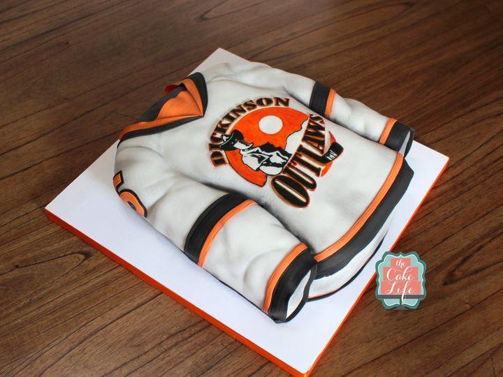 Tmx 1491183997254 Hockey Jersey Cake 2 Dickinson wedding cake