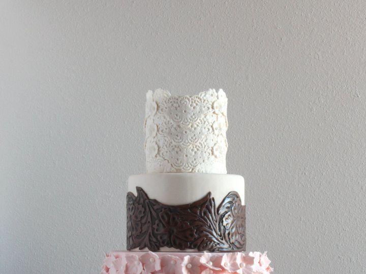 Tmx 1491184011162 Leather Lace Cake Dickinson wedding cake
