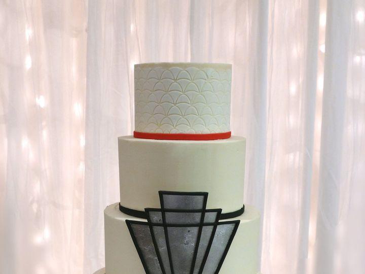Tmx 1491184104380 Art Deco Wedding Cake Dickinson wedding cake
