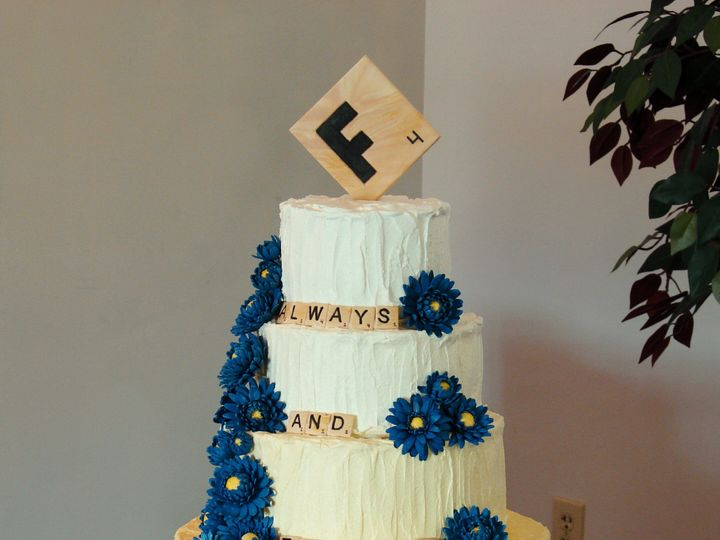 Tmx 1491184250398 Janies Scrabble Wedding Cake Dickinson wedding cake