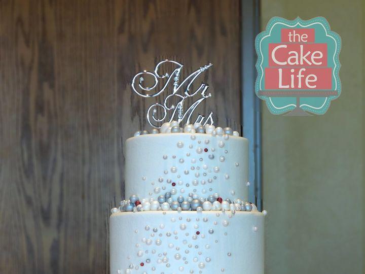 Tmx 1491184293861 Silver Red Bubble Wedding Cake Dickinson wedding cake