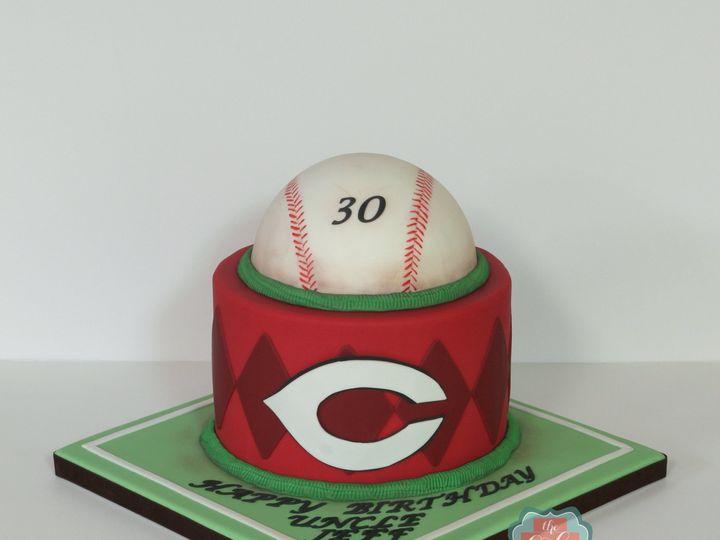 Tmx 1491184414098 Cincinnati Reds Baseball Cake Dickinson wedding cake