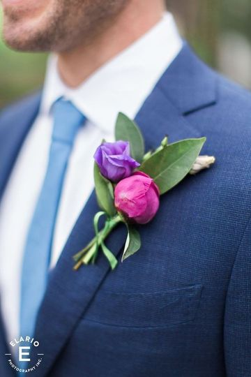 Purple and pink corsage