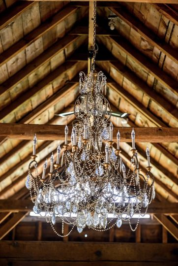 Our 176 year old chandelier