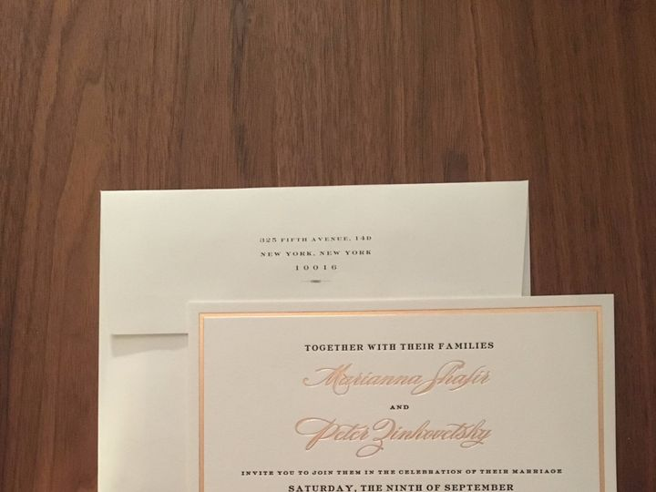 Tmx Img 5753 51 92990 1560120690 New York, NY wedding invitation