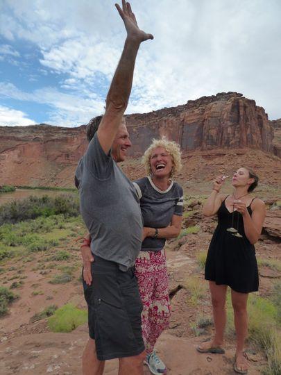 Mercury and Adelyn, Labyrinth Canyon, UT