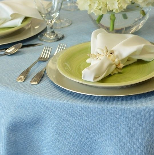 Our Newest Serenity Light Blue Burlap!