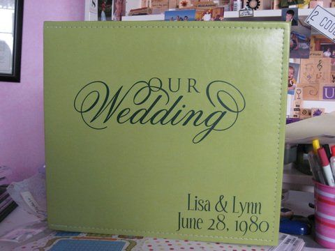 Personalize your wedding album or your guest book