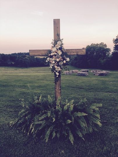 Cross with wreath