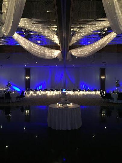 Purple lighting-Head Table