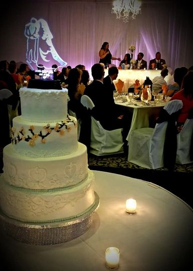 CAke with Table Background