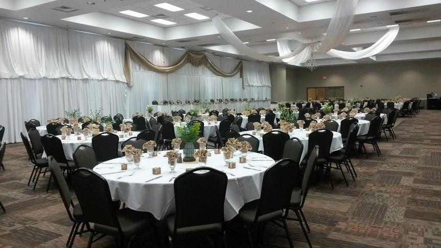 Reception hall design