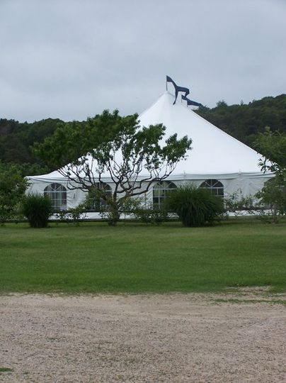 Tented event at Bourne Farm