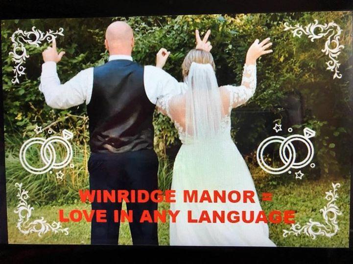 WINRIDGE MANOR = LOVE