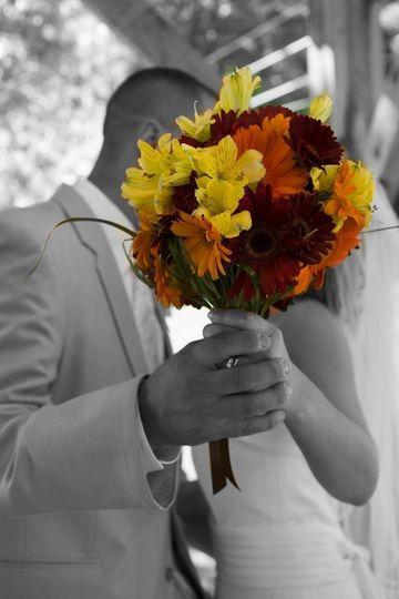 Color pop bouquet