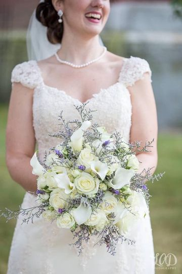 Bride and her bouquet