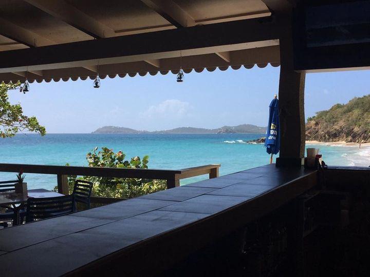View from the main bar at Lanai, Limetree Beach, St. Thomas, VI