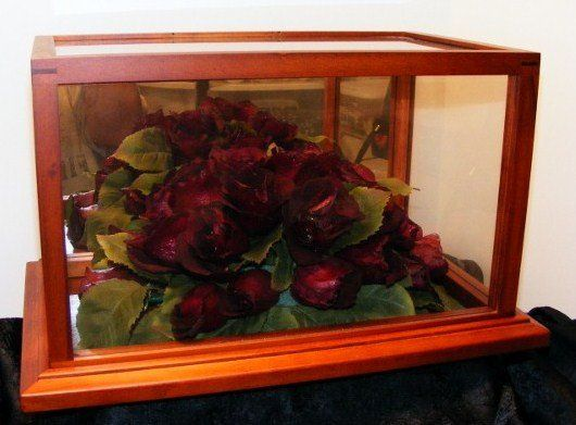 Glass display Sizes vary, priced from $75.00 - $125.00