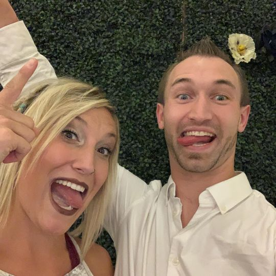 Silly moments at the wedding