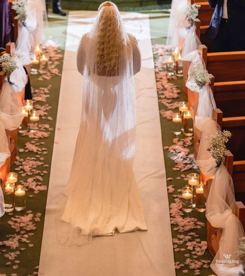 Walking down aisle