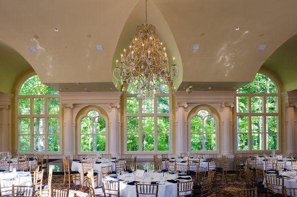 Banquet style reception set-up