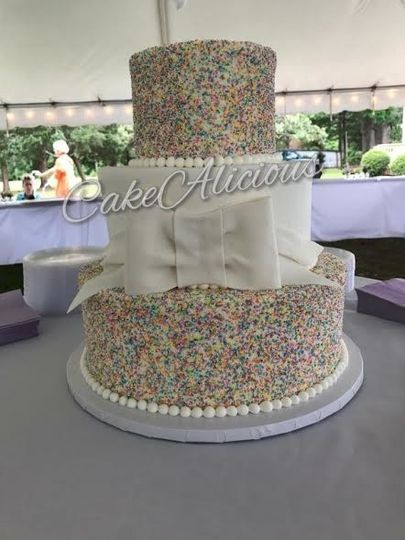 Dotted with colorful candies