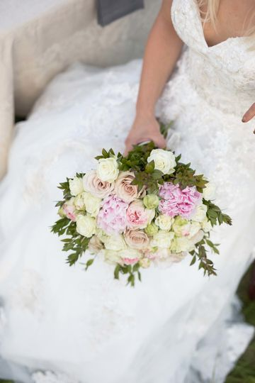 Traditional round bridal bouquet
