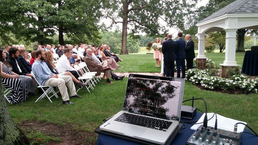 Small ceremony setup.
