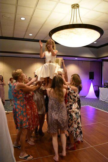 Hava Nagila Chair Dance Bride