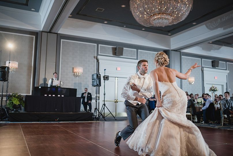 The Bride & Groom did a mash up first dance. So it started slow and soft and broke into several...
