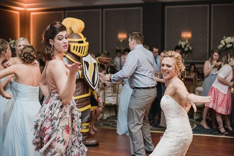 The Wedding at the Dearborn Inn had the ValParaiso Crusader Mascot make an appearance. The DJ......